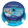 Verbatim CD-R 700MB 52x Super Azo Printable Spindle (Pack 25)