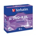 DVD +R DOBLE CAPA 8.5GB 8X PACK 5 ADVANCED AZO VERBATIM