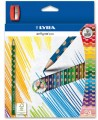 LAPIZ DE COLOR TRIANGULAR LYRA GROOVE SLIM CJ. DE 12+ SACAPUNTAS